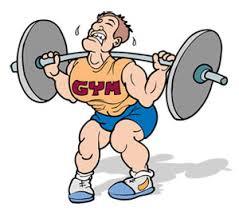 jobbig träning på gym
